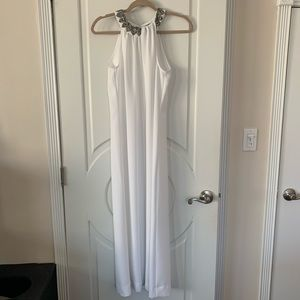 RACHEL ZOE White Gown with Slit